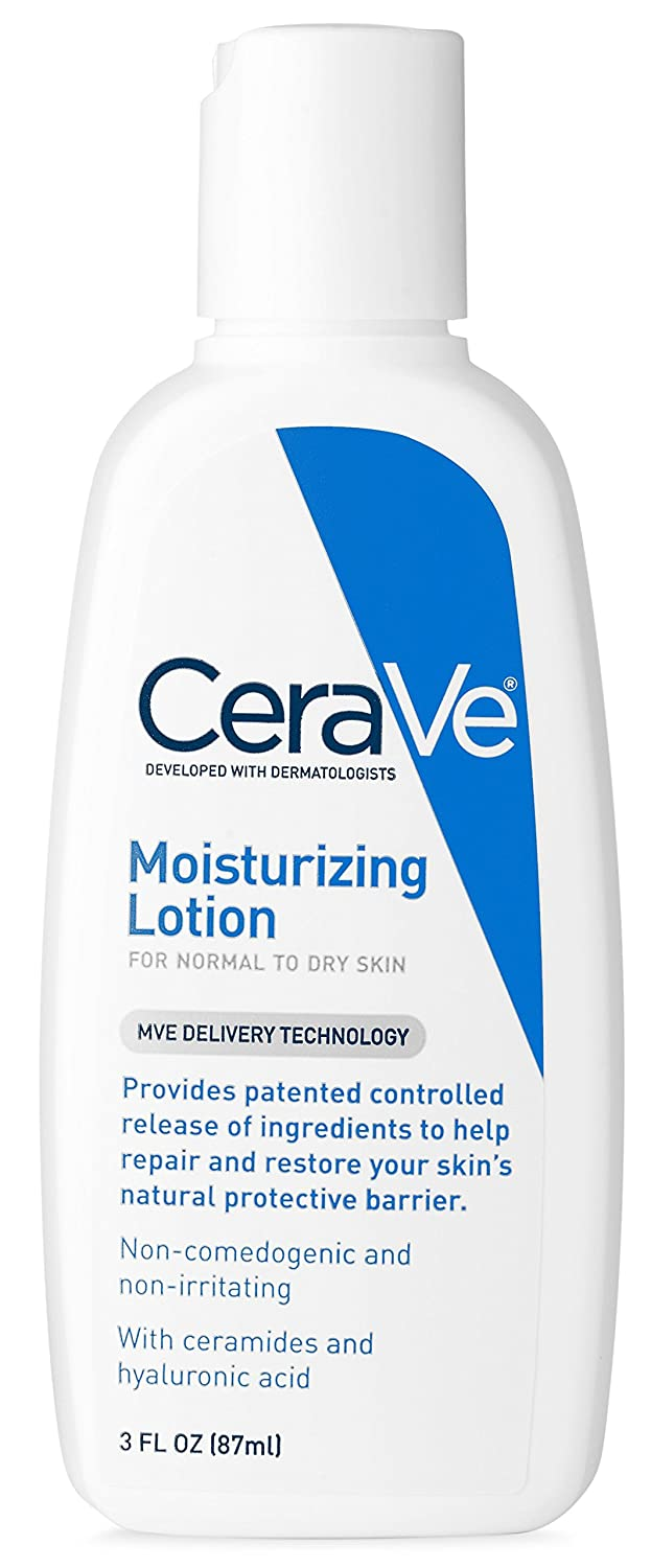 CeraVe Daily Moisturizing Lotion 12 oz with Hyaluronic Acid and Ceramides for Normal to Dry Skin U-SC-2702