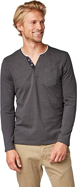TOM TAILOR T Shirt Manches Longues Homme