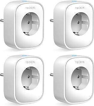 Enchufe Inteligente wifi TECKIN Inalámbrico Smart Mini Monitor de ...