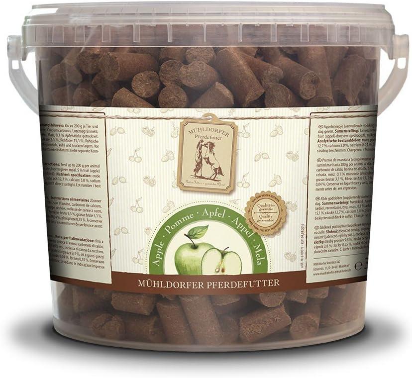 Mühldorfer - Comida para Caballos, Manzana, golosinas, para Caballos, 3 kg