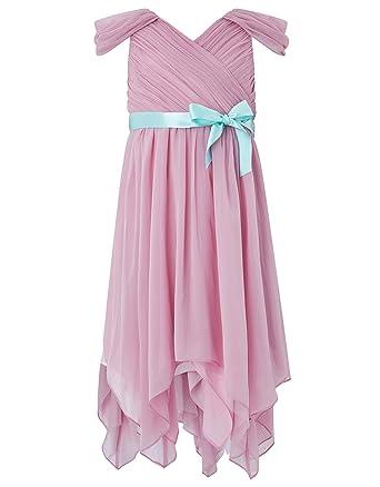 81abd3c34e8 Alivedre Chiffon Flower Girl Dress Wedding Party Dress Infant Kids  DressSize US 2TMauve