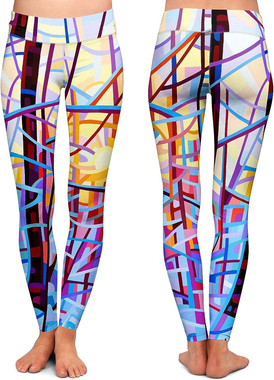Sunrise Athletic Yoga Leggings from DiaNoche Designs by Mandy Budan