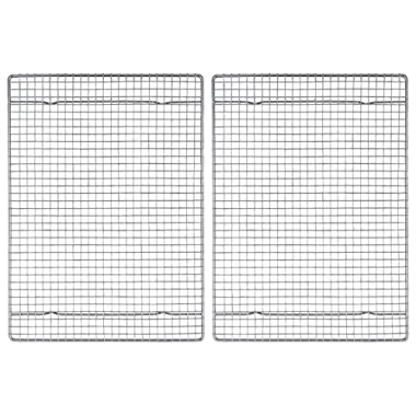 Mrs. Anderson's Baking Professional Half Sheet Baking and Cooling Rack, Heavyweight Chrome, 16.5-Inches x 11.75-Inches, Set 2