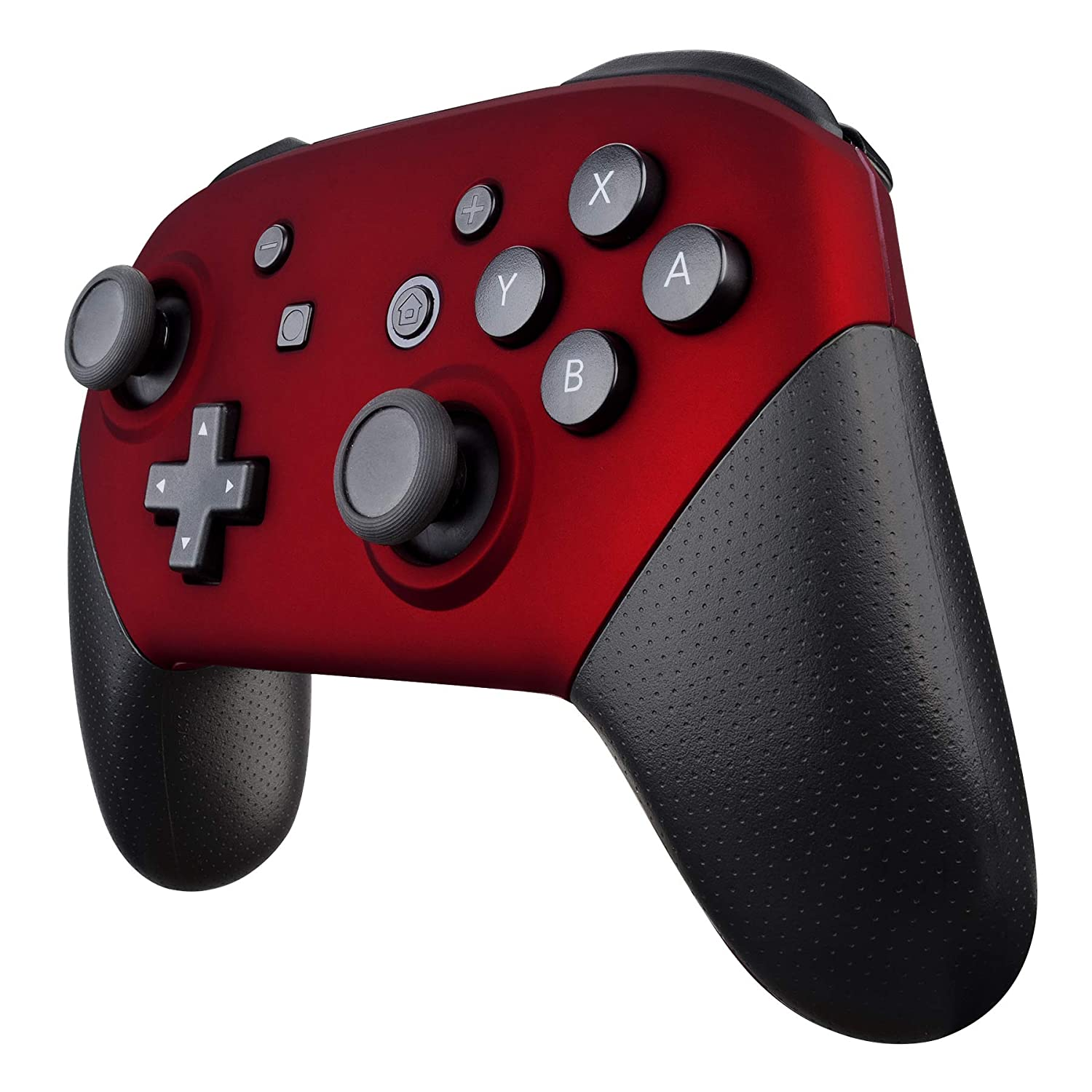 eXtremeRate Red Faceplate and Backplate for Nintendo Switch Pro Controller, Soft Touch DIY Replacement Shell Housing Case for Nintendo Switch Pro - Controller NOT Included: Video Games