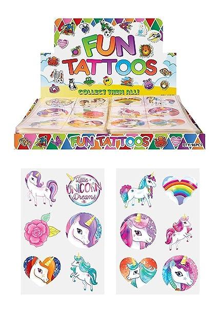 24 x Tatuajes temporales de Unicornio para niñas, Bolsa de ...