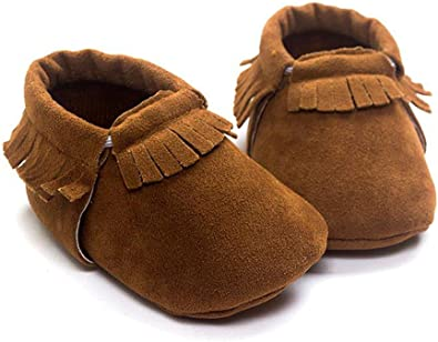 Infant Footwear Lace-Up Non-slip PU Leather Suede Rubber Sole Baby Crib Shoes