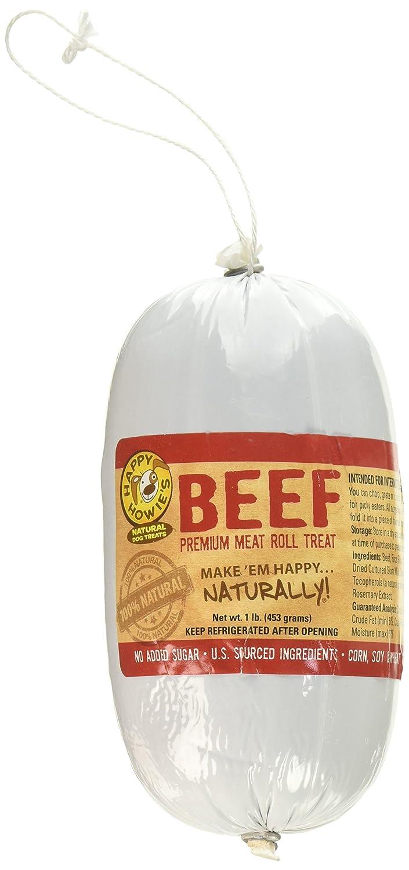 amazon com happy howie u0027s beef roll 1 lb pet supplies