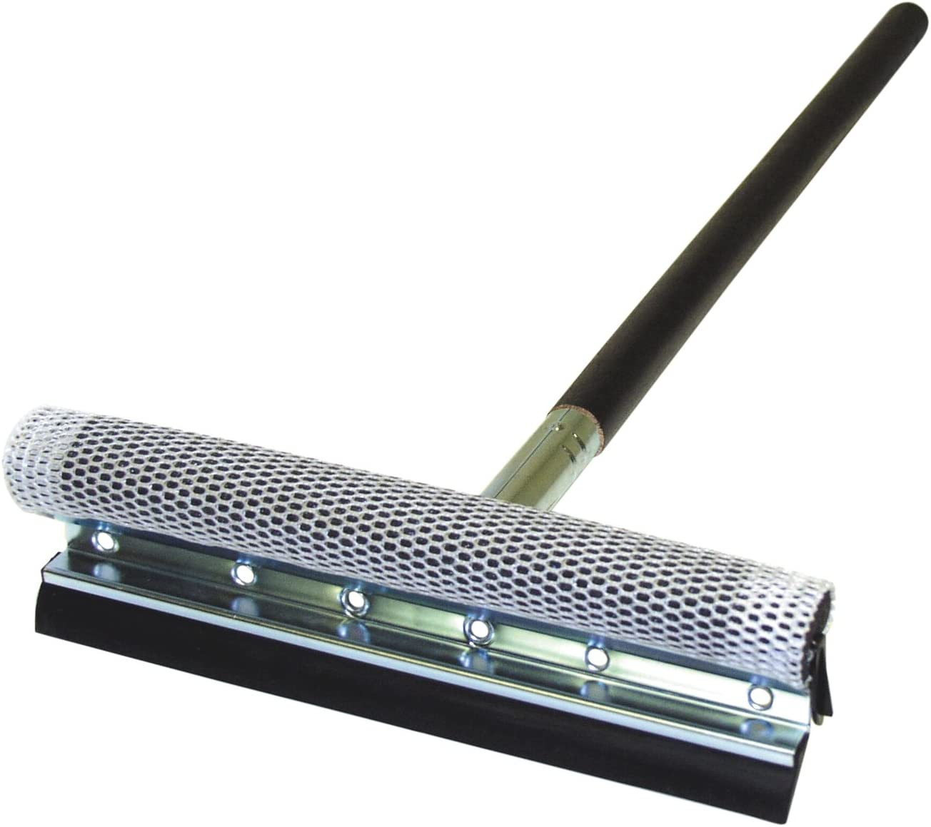 Carrand 9058 Black Deluxe 10 Metal Squeegee with 24 Wood Handle