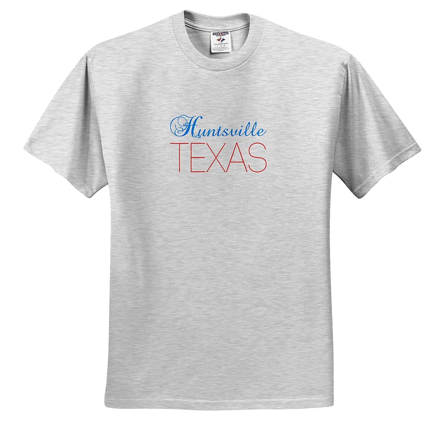 Patriotic Home Town Design 3dRose Alexis Design Huntsville T-Shirts Texas red Blue Text American Cities Texas