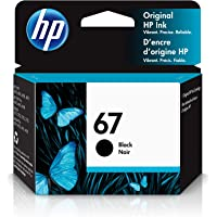 HP 67   Ink Cartridge   Works with HP ENVY 6000 Series, HP ENVY Pro 6400 Series, HP DeskJet 1255, 2700 Series, DeskJet…