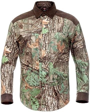 Fast Cheetah Hillman XPR Camisa de Camuflaje de Caza con Botones magnéticos, XXXL, Madera Verde: Amazon.es: Deportes y aire libre