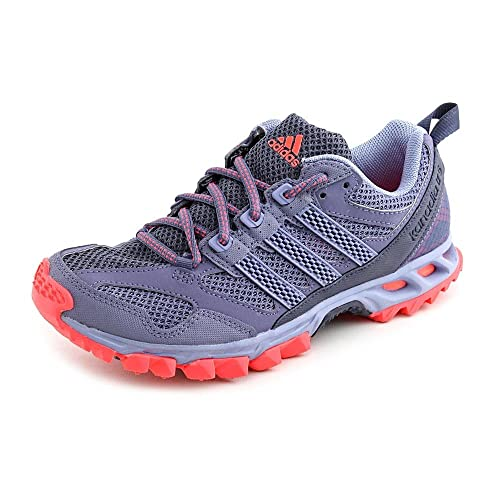 adidas Performance Womens Kanadia 5 Trail Running Shoe, Shade Grey Prism Blue Red Zest S