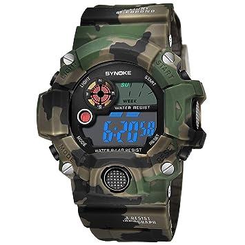 GeKLok - Reloj de Pulsera Deportivo para Niños y Adolescentes, Impermeable, Digital, Analógico
