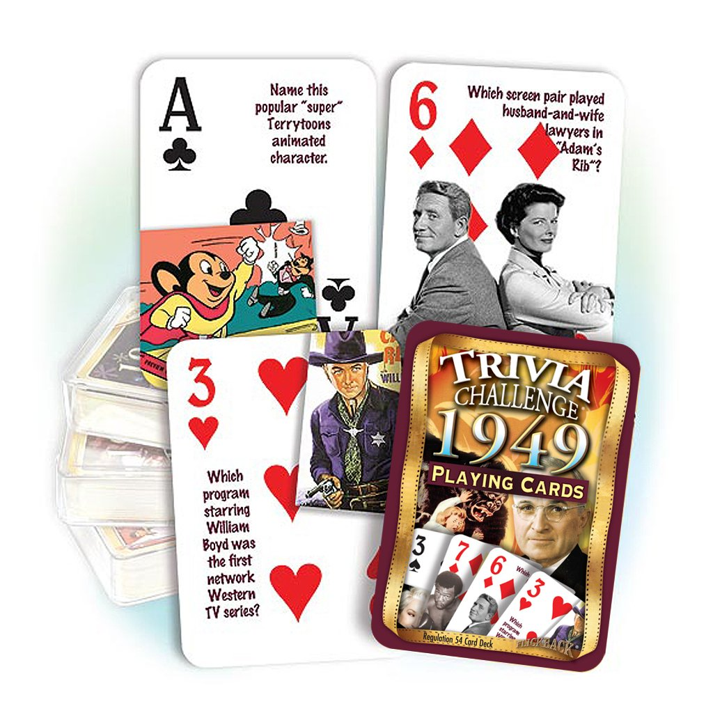 1949 Flickback Trivia Playing Cards: Happy 70th Birthday Gift or Great by Flickback Media, Inc.