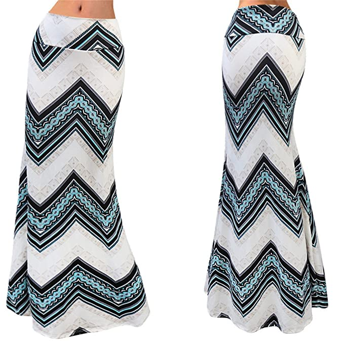 Juqilu Mujer Largas Faldas Cintura Alta Slim Fit Elegantes Vintage Classic  Rayas Moda Casual Falda Larga Faldas S-3XL  Amazon.es  Ropa y accesorios 0734d75f9ccd