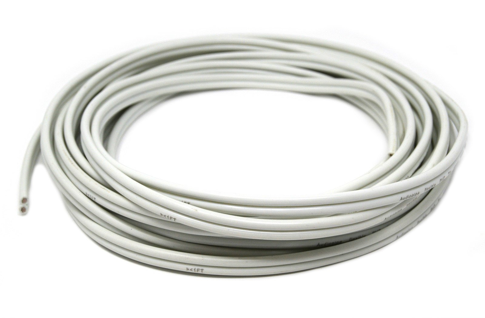 Audiopipe 25 FT 12 GAUGE WHITE MARINE SPEAKER WIRE STRANDED TIN COPPER PLATED
