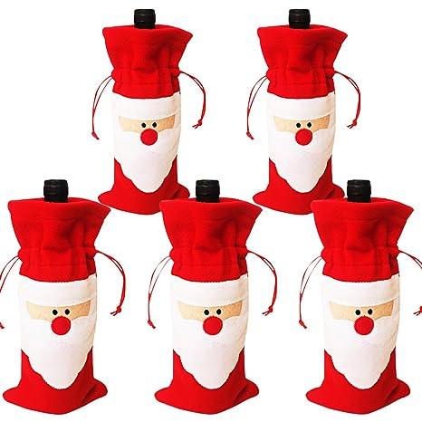 Amazon.com: Navidad Bolsas Cubierta Botella de vino rojo ...
