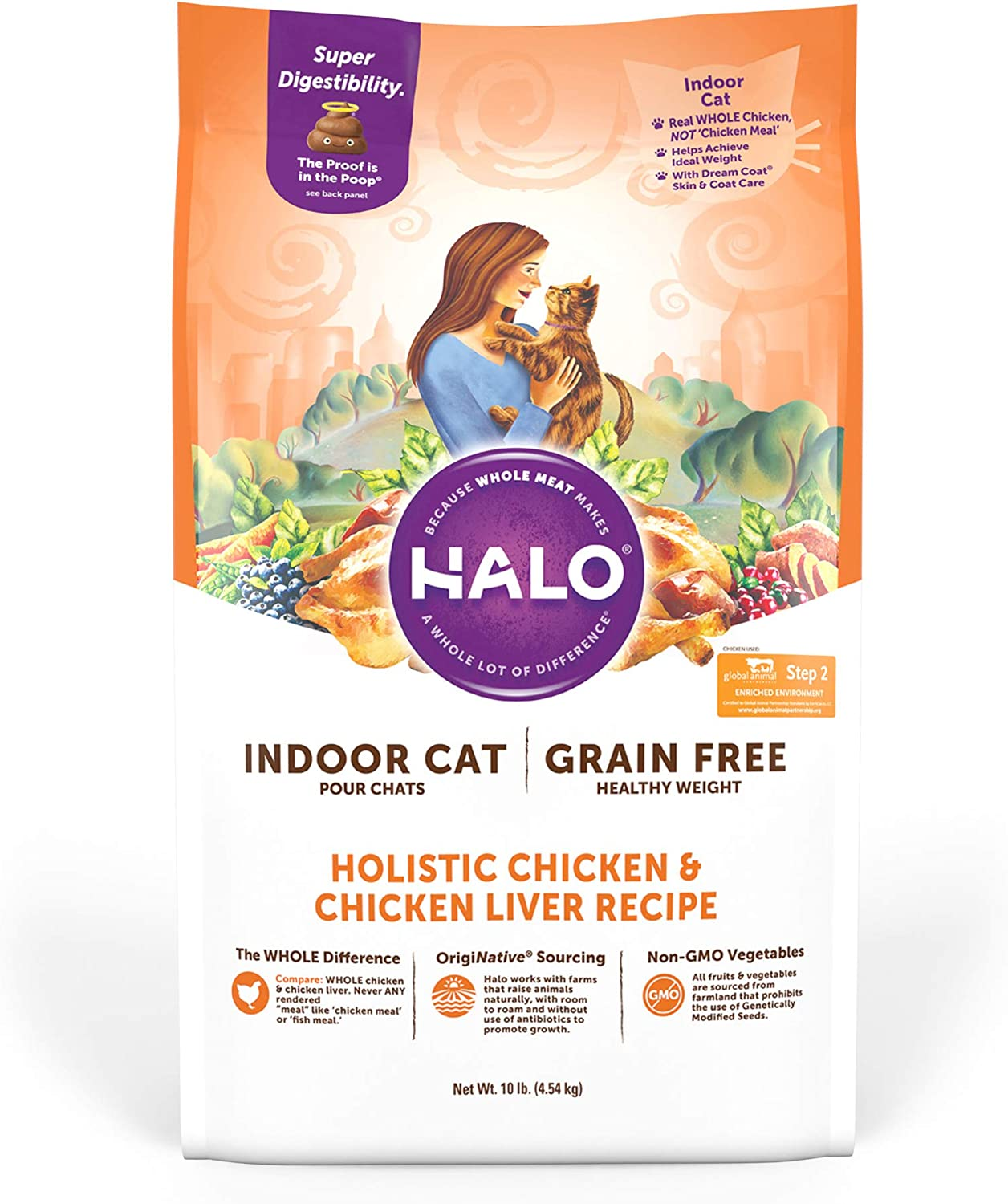 Halo Grain Free Indoor Healthy Weight Dry Cat Food