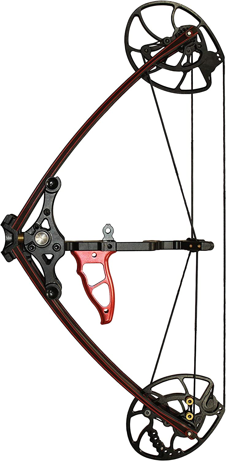 WILLIAM TELL ARCHERY Survival Mini Bow, maroon colored bow, black-colored axles