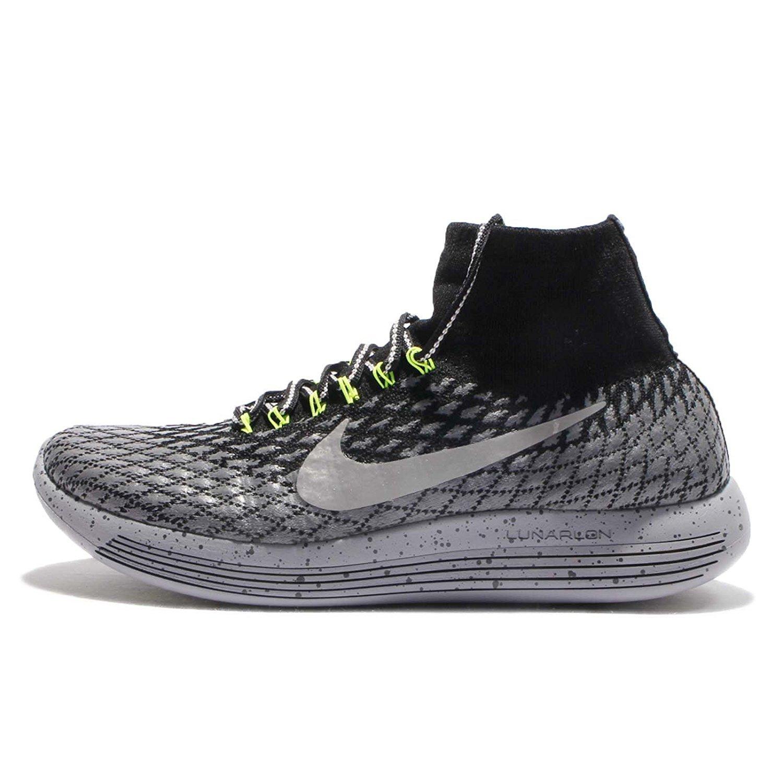 Nike Men's LunarEpic Flyknit Shield Running Shoes B01M2VH14N 12 D(M) US|Black/Metallic Silver