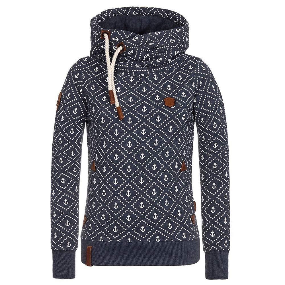 koobea Felpa con Cappuccio Donna Autunno Invernali Manica Lunga Cappotto Giacca Stampare Sweatshirt Hoodies