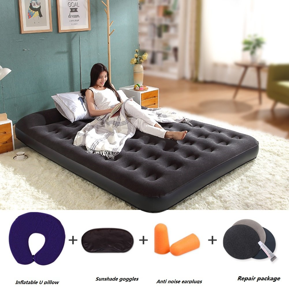 エアマットレス,インフレータブル ベッド,空気マットレスの使用は家庭内、一晩ご友人や親戚に最適です。-C B07DCPTT46