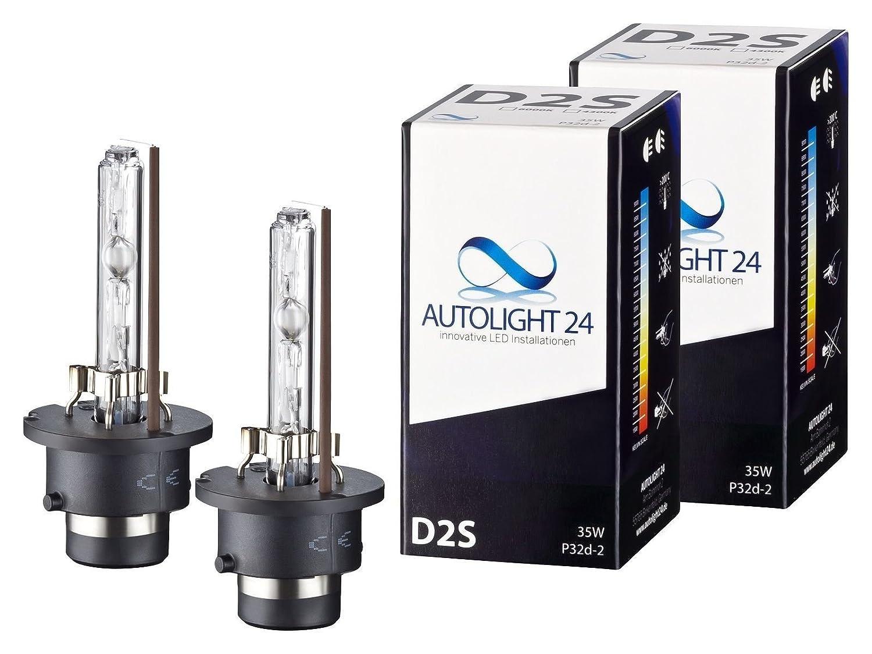 2 x Xenon Brenner D2S - 6000K TÜ V Ersatz Lampen Birnen E-Zulassung AutoLight24