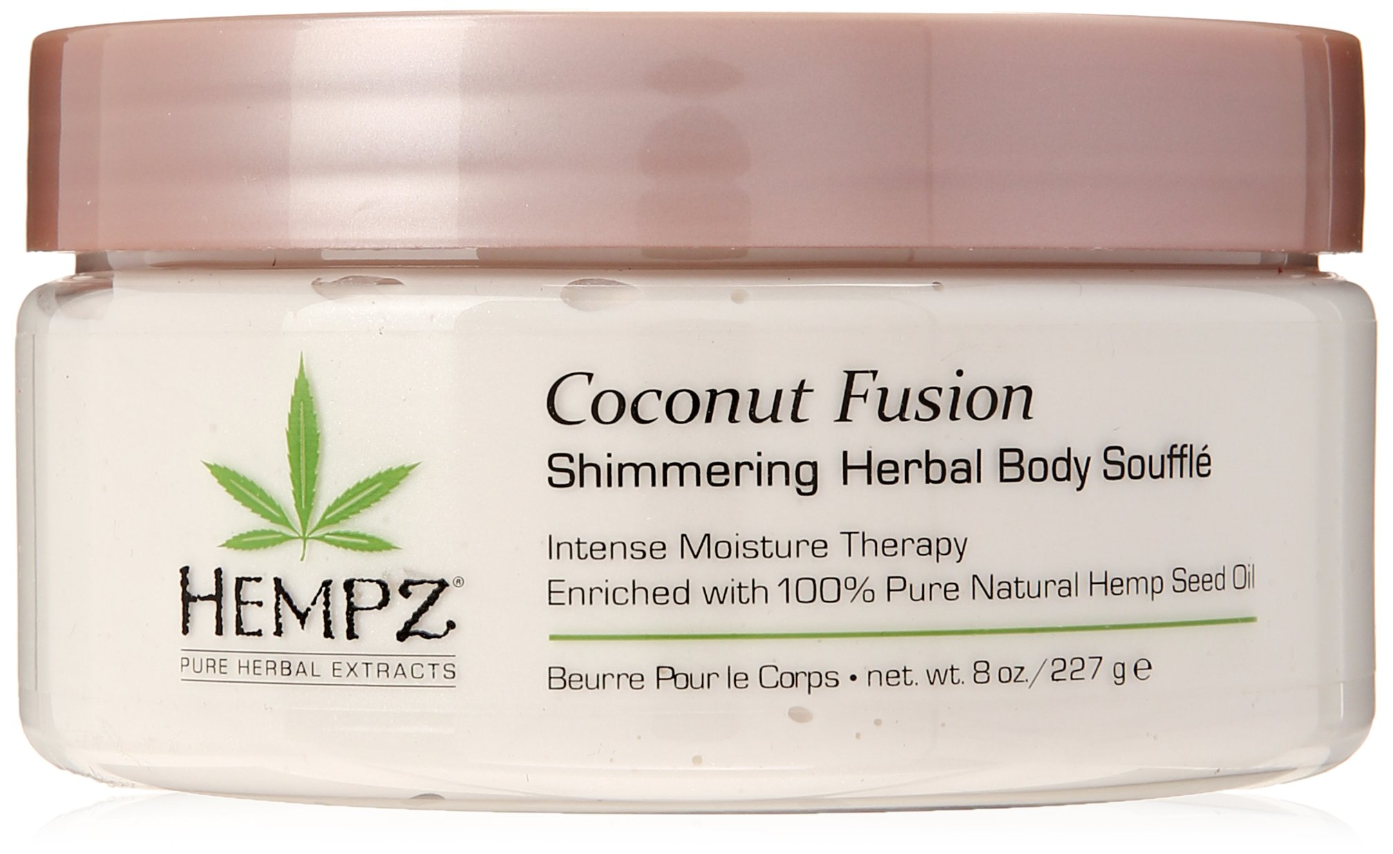 Hempz Coconut Fusion Herbal Shimmering Body Souffle, 8 Fluid Ounce