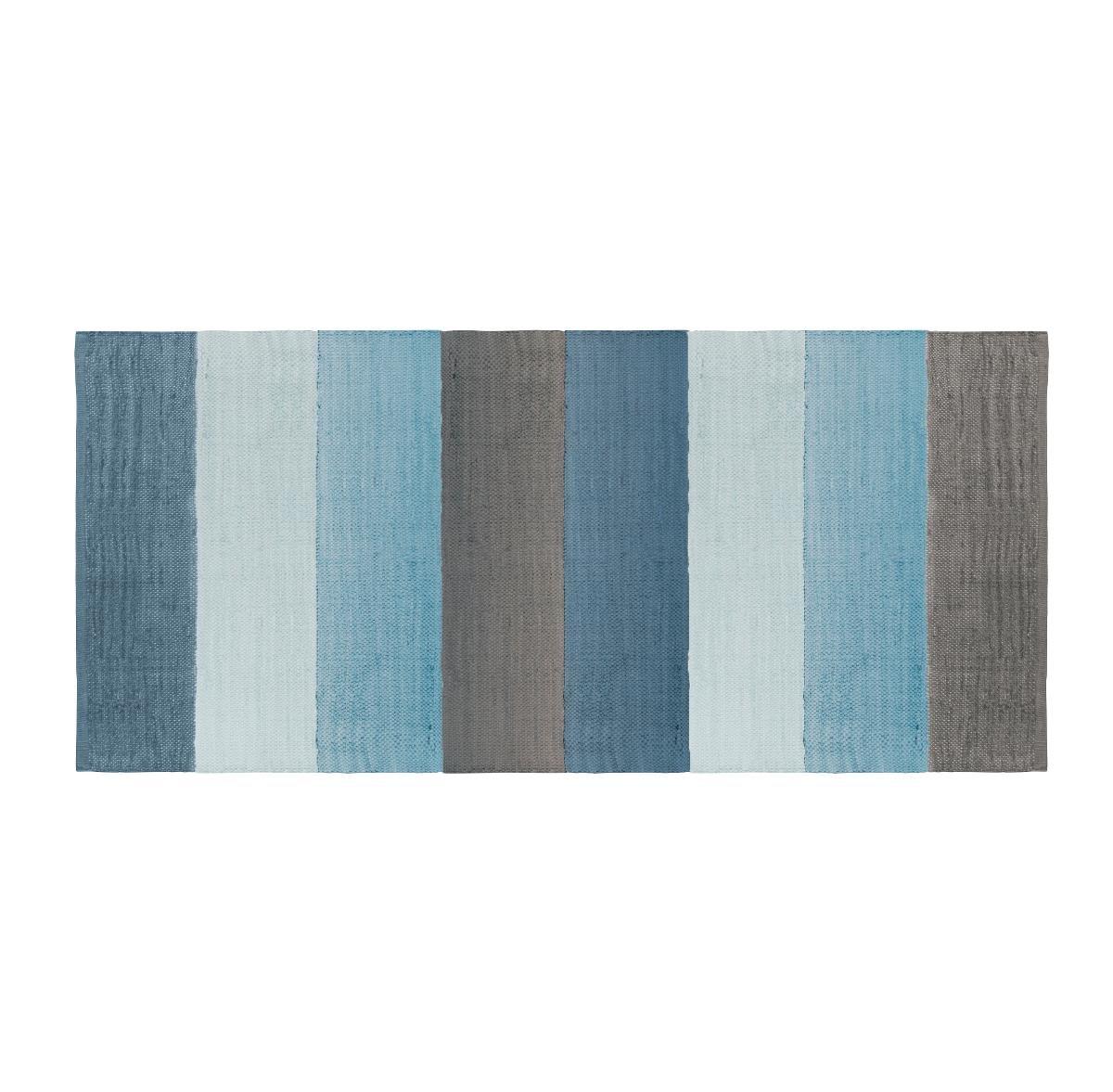 Sebra Länglicher Teppich gewebt - wolkenblau