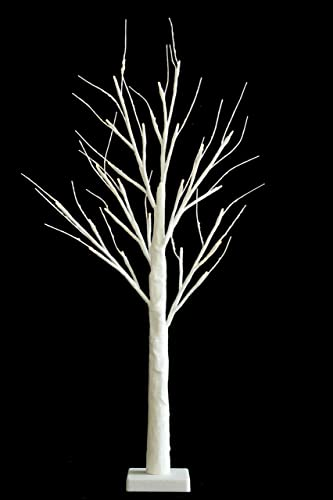 70cm24 led lights white christmas frosted mini tree with twigs battery