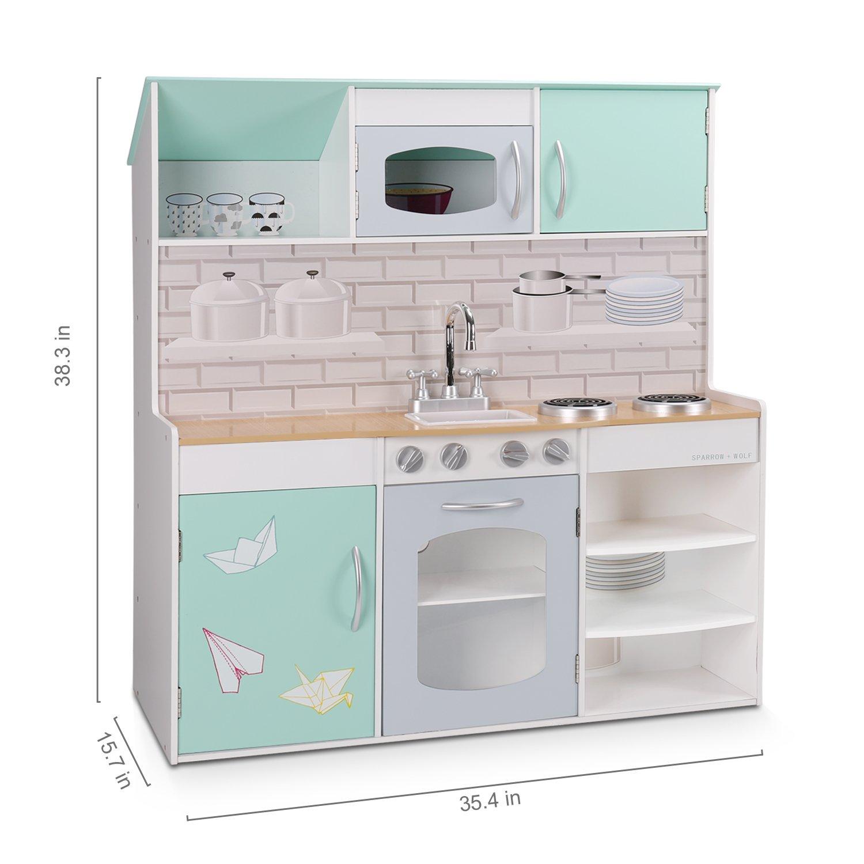 Amazon.com: WildBird Care Kids Dollhouse & Kitchen Double-Side ...