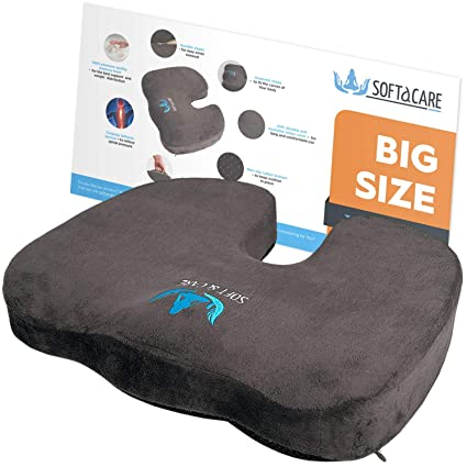 Softacare Best Seat Cushion Big Cushion Seat Office Chair Cushion 18 X16 X 3 1 2 Chair Pillow Memory Foam Ideal Car Seat Cushion