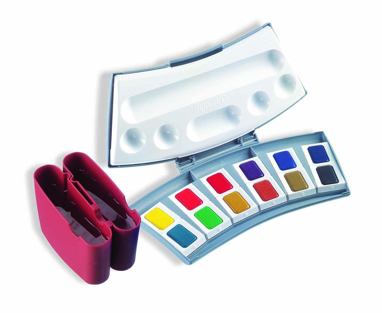 B000KTB6LI Pelikan Transparent Watercolor Paint Set, 12 Colors (721886) 71pdJrZewQL