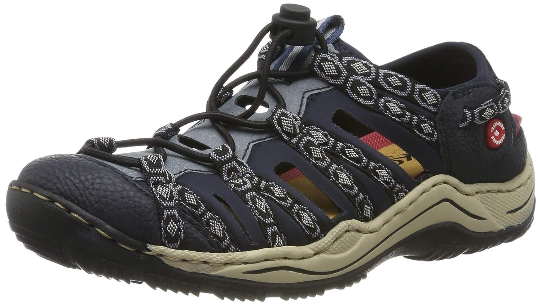 bluee (Pazifik Adria black-grey Navy 18) Rieker Women's L0577-18 Low-Top Sneakers