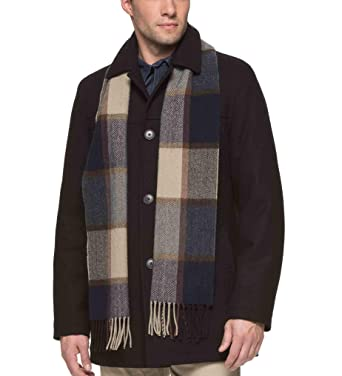 5b92822318416 Tommy Hilfiger Men s Big Wool Melton Walking Coat with Detachable Scarf at Amazon  Men s Clothing store
