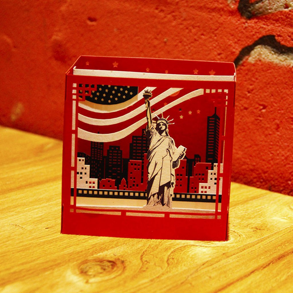 San Valent/ín Invitaci/ón jiamins 3d pop up New York Tarjetas de felicitaci/ón Navidad Cumplea/ños