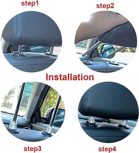 2 Pezzi di Cristallo Charms per Decorazione Poggiatesta Seggiolino Auto per Auto SUV Camion Blu KKmoon Collari Poggiatesta per Auto