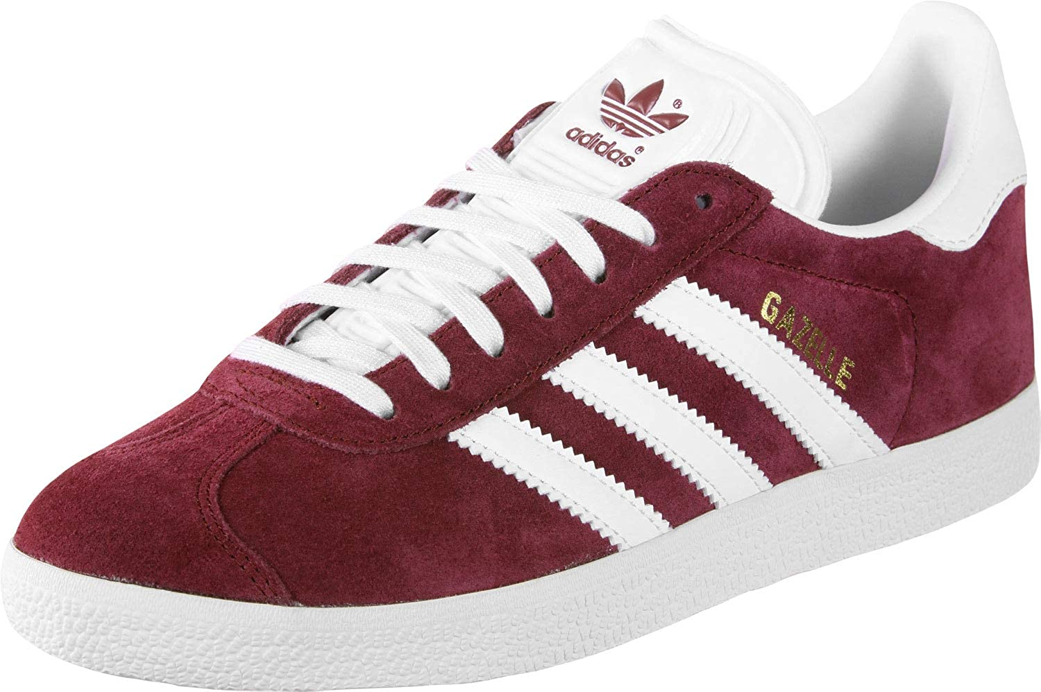 cocina Grave Dar a luz  Adidas Mens Gazelle Suede Burgundy White Trainers 8 US: Amazon.ca: Shoes &  Handbags