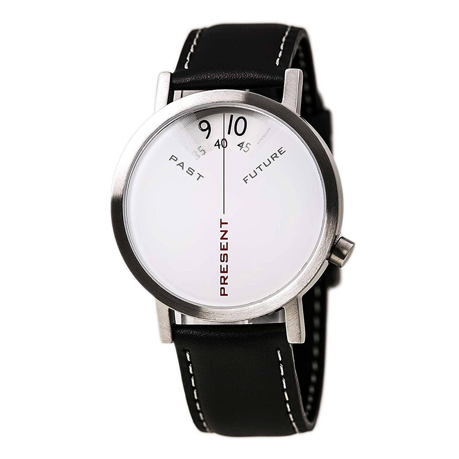 Projects Watch - Past - Present - Future - Silver-Leather (40mm)