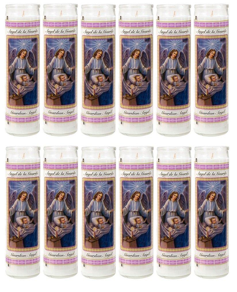 Guardian Angel Religious Candle, Devotional, Vigil, Novena, Prayer, Saints, Candles, White, 12pk (1 Cases)