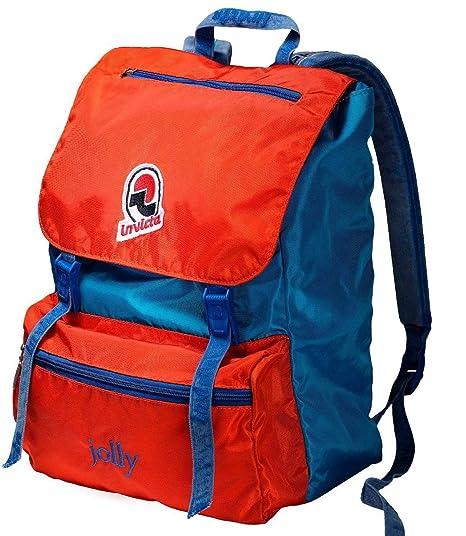 e965c58b1d Zaino Invicta, Jolly Vintage, Arancione e Blu, 18 Lt, Porta Laptop fino