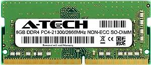 A-Tech 8GB Module for MSI (Micro Star) GV62 8RD-200 Compatible DDR4 2666MHz PC4-21300 Non-ECC SODIMM 1.2V - Single Laptop & Notebook Memory RAM Stick (ATMS397712A34073X1)