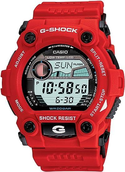 Casio G7900A-4 - Reloj para mujeres, correa de resina color rojo