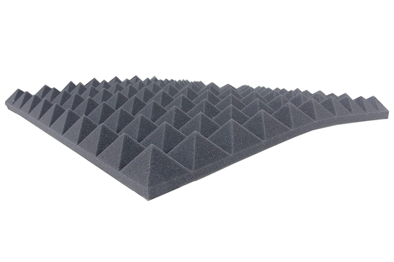 Ca.1m/² Akustikschaumstoff AKUSTIK LINE Pyramidenschaumstoff in 4 cm Schalld/ämmmatten zur effektiven Akustik Schall D/ämmung