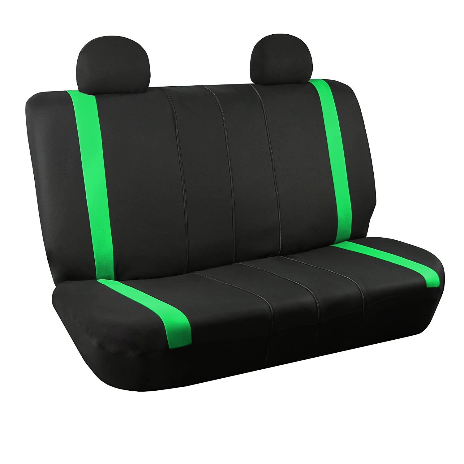 w. 4 Detachable Headrests and Solid Bench FH Group FB032GREEN114 Green Unique Flat Cloth Car Seat Cover