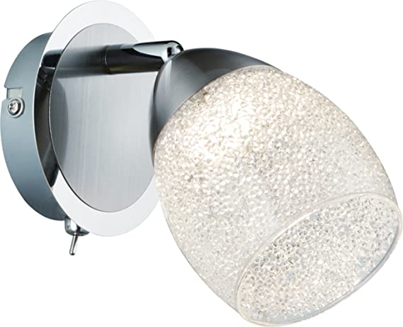 Onli veronique applique led integrata 5 w cromo bianco 10 x 13cm