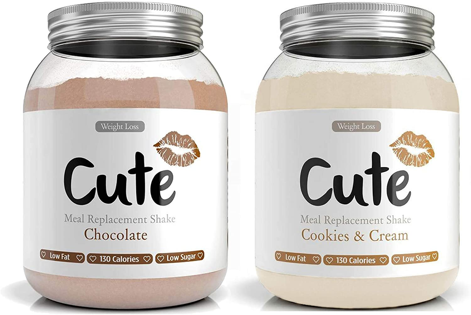 Cute Nutrition Chocolate y Galletas con Crema 2 Batidos de ...