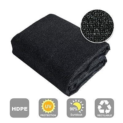 Shatex 90% Sun Shade Fabric for Pergola Cover Porch Vertical Screen, 8x15ft Black : Garden & Outdoor