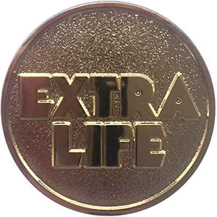 Extra Life Coin Quarter Ready Player One Gold