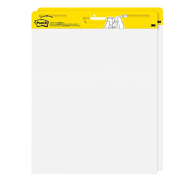 8 Pads 25 x 30 Inches Post-it Super Sticky Easel Pad 30 Sheets//Pad Super Sticking Power Large White Premium Self Stick Flip Chart Paper LLS